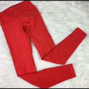 Lululemon Red Wonder Under Leggings
